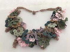 Soft green choker, beige pendant, crochet choker, vintage hairband, hippie belt.    eBay