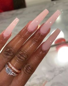 Long Square Acrylic Nails, Simple Acrylic Nails, Best Acrylic Nails, Summer Acrylic Nails, Simple Nails, Spring Nails, Summer Nails, Nail Swag, Tapered Square Nails