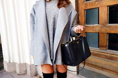 fashion, coat, and outfit Bild