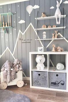 Inspiration from instagram - @mamma.line - pastel room ideas, grey room design, boys kidsroom, kidsroom decor