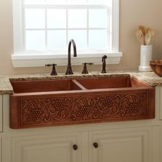 114341 copper 50/50 farmhouse sink