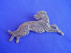 Irish Wolfhound Pin Leaping #21D Pewter Hound Dog Jewelry by Cindy A. Conter