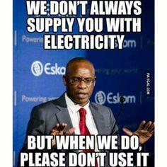 This made me laugh ... #eskom only in #southafrica Eisssh-kom! #snaaks #funny #eskom