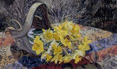 Janet Fish, 'Daffodils/Dark Trees', 2008, Contemporary Realism