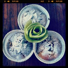 Apple and pine nuts muffins - muffins alle mele e pinoli