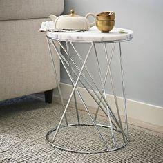 Random Base Side Table - Marble #WestElm  $149.00 special $119.00