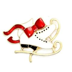 Buy Christmas Brooch Pin Vintage Ice Skating Holiday Brooch Xmas Gift - and others fashion jewelry perfect for women online with big discount. Jewelry Christmas Tree, Christmas Gifts, Jewelry Sets, Fine Jewelry, Fashion Accessories, Fashion Jewelry, Skate Shoes, Crystal Jewelry, Brooch Pin