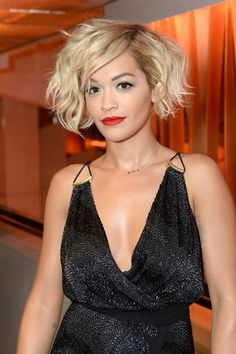 Side Swept Short Curly Hairstyle