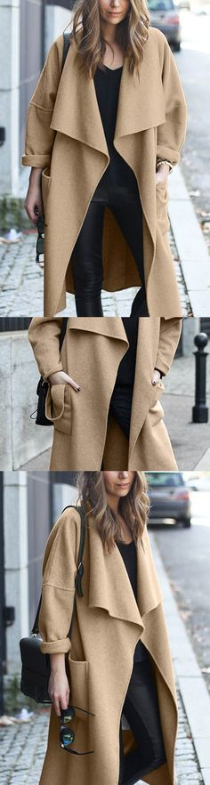 Add drama to your outfit with this fabulous coat! #womensfashion