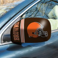 "Cleveland Browns Small Mirror Cover - The greatest game day and tailgating accessory for the season! These stylish Mirror Covers come in 2 sizes to fit easily over side mirrors. Washable, elastic construction ensures a tight fit. FANMATS Series: MIRRORSTeam Series: NFL - Cleveland BrownsProduct Dimensions: 5.5""x8""Shipping Dimensions: 9""x6""x0.25"". Gifts > Licensed Gifts > Nfl > Cleveland Browns. Weight: 0.25"