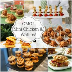 Mini Chicken And Waffles {Brunch Foods That Rock} #brunch #chickenandwaffles