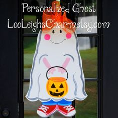 Halloween Door Hanger, Halloween Decor, Ghost Door Decoration, Fall Home Decor. $40.00, via Etsy.