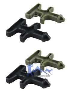 Black Green Color Plastic Buckle Scope Mount  For Outdoor Hunting Sports OS33-0062