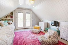 teen attic bedroom