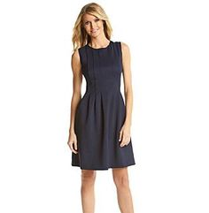 Vince Camuto® Scuba Fit and Flare Dress 		 at www.bergners.com