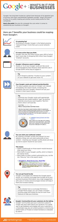 There are a myriad of benefits of Google+ for business. Download our exclusive infographic to learn 7 benefits your business could be reaping from Google+.