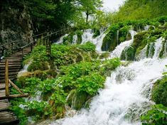 Explore the waterfalls of Plitvice Lakes National Park, the largest national park in Croatia.