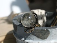 Real  flower ring real dandelion  pressed flower by Drawingwithice, $20.00