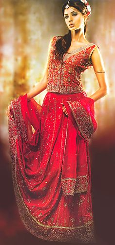 Unique BW Red Silk Lehenga Houston Dallas Forthworth Texas Pakistani Bridal Dresses Stores Bridal Wear