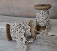 taupe crochet lace