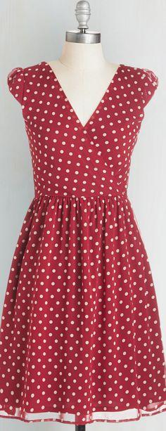 retro polka dot skirt