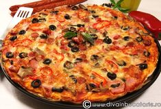Pizza Recipes, Cooking Recipes, Pizza Rustica, Pizza Lasagna, Romanian Food, Food Design, Bread Baking, Pasta Dishes, Vegetable Pizza