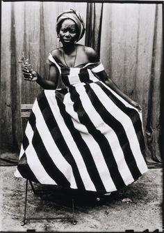 photo - Seydou Keita Striped Dress #2dayslook #watsonlucy723 #StripedDress www.2dayslook.com