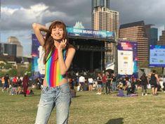 I'm a happy rainbow 🌈 Rainbow Swimsuit, Levis, Swimsuits, Vegan, Music, Happy, Youtube, Instagram, Musica