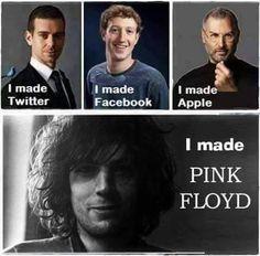 I Made PINK FLOYD - Syd Barrett Funny Quotes https://www.facebook.com/rockshock/ #pinkfloydfunny #pinkfloyd #sydbarrett #funnyquotes #rockquotes #musicquotes #imadepinkfloyd #twitter #apple #facebook #humour #hilarious #rockstar #rocklegends #rockshock #pinkfloydquotes #crazydiamond