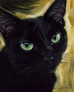 Beautiful Lucy the black Siamese cat by Diane Irvine Armitage