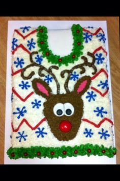Ugly Sweater Cake made by Suga Mama Sweets