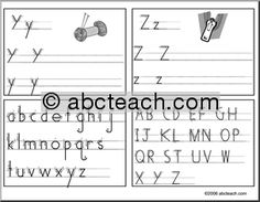 Free Handwriting Without Tears practice pages. | abcteach