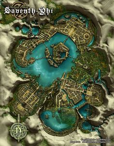 "Copyright Paizo Publishing LLC. The name of the city means ""The City of the Seven Spear"" on an old Golarion dialect (Aztlani?). This city is the equivalent of El Dorado in the Pathfidner roleplayin..."