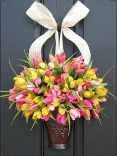 Spring Easter Decorating Ideas - Door Wreath