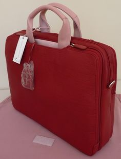 e19833596314 Radley Red  amp  Pink Briefcase Laptop Bag Work Bag - BNWT - RRP