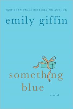 Something Blue by Emily Griffin.  Im glad I read the reviews on this book AFTER i read the book, because I enjoyed it for what it was.  you weren't supposed to LIKE the main character.  But I still liked the book.  Easy read.
