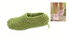 How to knit and assembly the slippers in DROPS 167-31