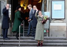 Kate Middleton Photos - (L-R) Prince William, Duke of Cambridge and Catherine, Duchess of Cambridge with Prince Daniel of Sweden and Crown Princess Victoria of Sweden after they walked through the cobbled streets of Stockholm from the Royal Palace to the Nobel Museum during day one of their Royal visit to Sweden and Norway on January 30, 2018 in Stockholm, Sweden. - The Duke And Duchess Of Cambridge Visit Sweden And Norway - Day 1