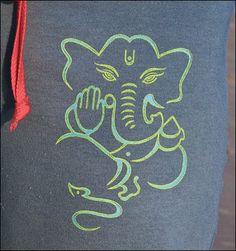 Ganesh Drawings   Drawstring Pant/ Line Ganesha Art