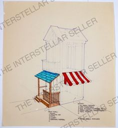 Original 1970's Mattel Barbie Dream House Concept Art Blueprint! Vintage Dolls 5