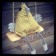 POULE à la LAVANDE Verte Petis coeurs 16cm sachet de lavande décoration : Décoration pour enfants par le-petit-atelier-de-laure