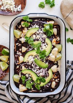Or we could just get real and call it what it is: chocolate sauce on your enchiladas. Heeeeey-o! It's not Thanksgiving-y, I know. But I'm thinking about next week for you. Or the week after. Two weeks later. You gotta eat in December, ya know! Have you ever attempted a mole sauce? If I make …