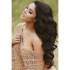 Elegant Long Lace Front Fluffy Body Wavy Black Indian Human Hair Wig For Women