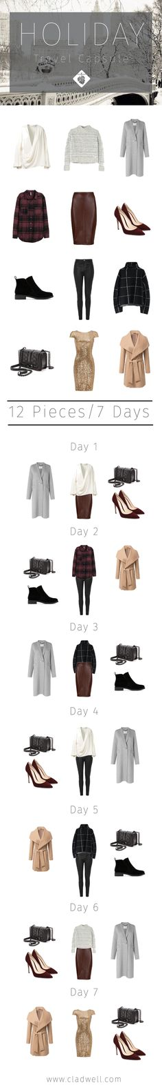 What to Pack for the Holidays: 7 Days, 7 Outfits, 12 Pieces — CLADWELL GUIDE