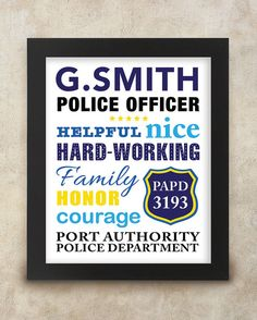 Police Officer Sign Gift for a Police by CornerHouseGraphics