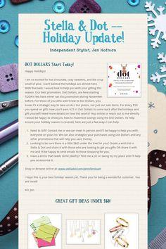 Stella & Dot -- Holiday Update!