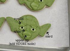 Yoda Cookies by Sugarbelle