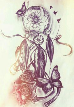 When it comes to tattoos for women, Dreamcatcher tattoo designs are second to none. Continue reading to find out some of the most loved and best dreamcatcher tattoo designs. Tattoos Masculinas, Trendy Tattoos, Tattoo Drawings, Body Art Tattoos, Ladies Tattoos, Tatoos, Fake Tattoos, Temporary Tattoos, Pencil Drawings