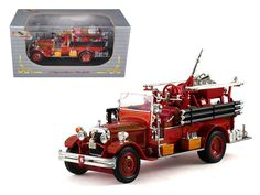 1931 Seagrave Fire Engine Red 1/32 Diecast Model Car by Signature Models - Brand new 1:32 scale diecast model of 1931 Seagrave Fire Engine Red die cast car by Signature Models. Brand new box. Rubber tires. Has opening hood. Dimensions approximately L-6. Made of diecast with some plastic parts. Detailed interior, exterior, engine compartment. Please note that manufacturer may change packing box at anytime. Product will stay exactly the same.-Weight: 1. Height: 5. Width: 9. Box Weight: 1. Box…