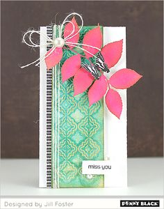 Featuring Penny Black's new Creative Dies, stencils, and stamps: Download complete supplies and instructions on our blog.